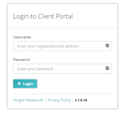 Client Portal Login Page - English